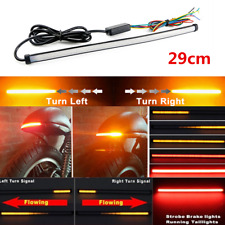 Motorcycle Sequential Switchback Flowing LED Tail DRL Brake Turn Signal Lights