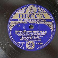 78rpm CHARLIE KUNZ piano medley d.93