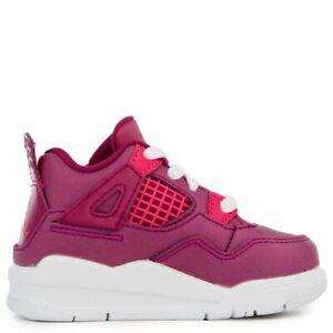 Toddler's Jordan 4 Retro True Berry/Rush Pink-White (BQ7672 661)