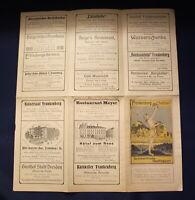 Original Prospekt mit Plan von Frankenberg um 1910 Ortskunde Sachsen js