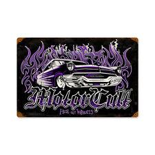 Moteur Cult Hell on wheels Custom hot rod vintage retro sign tôle bouclier bouclier