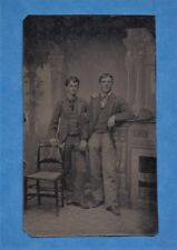 """Tintype of Two Affectionate Men- """"Whose Your Daddy?""""- Gay Interest!"""