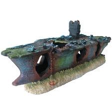 Slocme Aquarium Shipwreck Decorations - Fish Tank Aircraft Carrier Decor