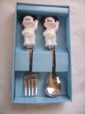 """Coffret de 2 couverts pour enfant """"Mickey"""" en céramique et inox DISNEY JAPAN"""