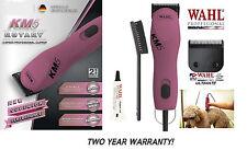 Wahl KM5 PINK PRO Pet Grooming SUPER DUTY Clipper SET&ULTIMATE 10 Blade Set