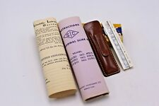Scientific Instruments Slide Rule With Leather Case and Instructions