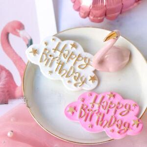 Happy Birthday Silicone Fondant Cake Mold Alphabet Letter Chocolate Baking Mould