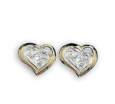Montana Silversmiths Delicate little hearts with open filigree corner ER714