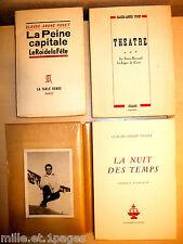 Claude-André Puget Scénariste 3 Ouvrages Cocteau Aragon & 1 Photo Signé