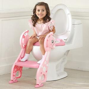Lerntöpfchen Toilettentrainer Toilettensitz mit Treppe&Toilettenmatte WC Sitz DE