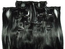 Clip In Kunsthaar Set 8-teilig glatt schwarz HaarverlängerungExtensions Hair