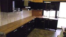 Top Küche IP 4050 Dekor hochglanz schwarz,L-Form 330 x 205 cm Sonderpreis
