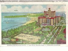 Edgewater Beach Hotel  Chicago Illinois  Mailed 1949  Linen Postcard 21718