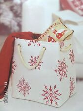 Sheffield Home Snowflakes Polyester Canvas Multi-use / Storage Tote Bag 15x11x18