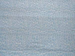CRIB SHEET/FITTED/ FLANNEL OR COTTON LEOPARD PRINTS - BLUE