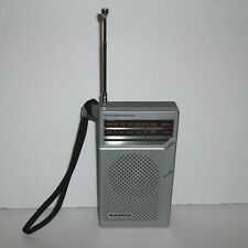 Sanyo RP5065 AM FM Pocket Radio Silver 2 Band Receiver Works Great! Cleaned