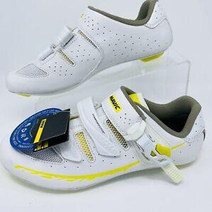 Mavic Ksyrium Elite 2 Womens Road Shoe White/Yellow 40 EU US 8 NWT $150