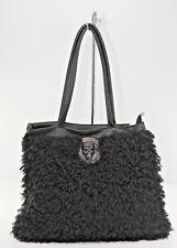 Damentasche Umhängetaschen Handtasche Felltasche Gothik Tottenkopf schwarz сумка