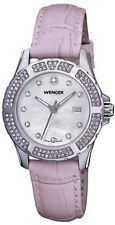 Wenger Swiss 70311 Sport Elegance Women's Lavender Leather Swiss Quartz Watch