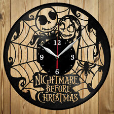 Vinyl Clock Nightmare Before Christmas Vinyl Record Wall Clock Original Gift