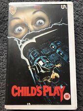 CHILDS CHILD'S PLAY PRE-CERT INTEREST SLASHER BIG BOX RARE VHS UK VIDEO