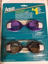 2 pairs Aqua SuperGoggles with Clear Lens