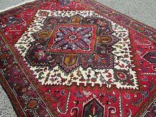 Persian Heriz Semi-Antique Oriental Rug 6.9 x 9.4 All Hand Woven Great Size