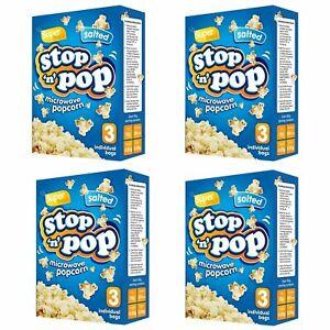 12pk x 85g Microwave Popcorn   Salted Flavour   Movie Cinema Theatre Party