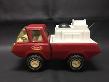 Vintage 70's Metal Tonka Red Fire Truck - Water Pump Truck