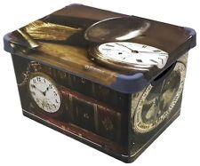 Boîte de conservation 20 Liter Déco avec motif IMAGE plastique mode en antique