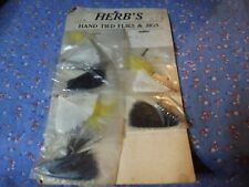 a. Vintage Herb's Hand Tied Flies & Jigs Six on a Card Card Has Wear