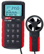 Anemometer [UNI-T UT362 USB] Windgeschwindigkeitsmessung: 2-10 m/s, 10-30 m/s