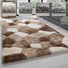 Hochflor Teppich Wohnzimmer Shaggy Weich m. 3D Muster, m. Soft Garn
