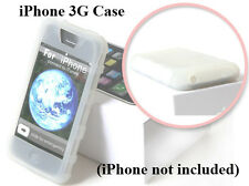 IPCS White Apple iPhone 3G Premium Rubber Soft Gel Silicon Skin Case Cover