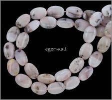"16"" Pink Peruvian Opal Flat Oval Beads 10x14mm #76136"