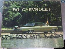 1959 Chevrolet Dealership Sample Sales Catalog 267444