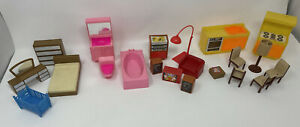Vintage Arco Room Furniture Doll House 1980 Kitchen Bath Mid Century Hong Kong