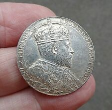 Official Royal Mint Sterling Silver 1902 Coronation Medal King Edward VII 30mm
