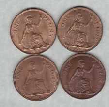 More details for four 1937/1938/1946 & 1953 george vi & elizabeth ii pennies in mint condition