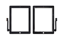 Touchscreen Digitizer Display Glas Scheibe Front Home Button für iPad 3 schwarz