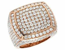 Mens 14 Rose Gold VS Diamond 3D Square Wedding Fashion Pinky Ring 25mm 8 2/3 Ct