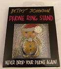 NWT Betsey Johnson Glitter Gingerbread Phone Ring Stand Retail $18