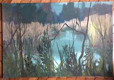 Chabry Frank gouache et huile sur papier signée le jardin enchanté de Ric Genève