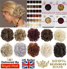 KOKO NEW LADIES CURLY CLAW CLIP IN CLAMP SYNTHETIC HAIR BUN UP STYLE HAIR PIECE