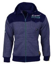 Mens DL Funk Hoodie Sweatshirt Hooded Zip up Stylish Jumper Fleece Top Navy/grey L