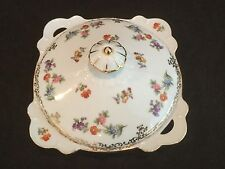 MARRIED 2 PIECE COVERED VEGETABLE DISH IN THE NORITAKE PATTERN - DRESDOLL