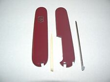 Victorinox Swiss Army Knife 91mm  PLUS KIT #2 Red HANDLES  Used = New Take offs