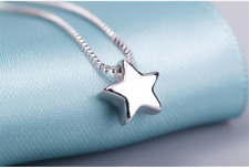 Cute, Simple, Womens Fashion Delicate Sterling Silver 925, Chain Star Necklace