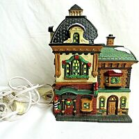 Vintage O'Well Village Lighted Barber Shop 1998 Limited Edition Christmas