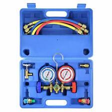 R134a R12 R22 R502 HVAC AC Diagnostic Manifold Gauge 5FT Refrigeration Charging